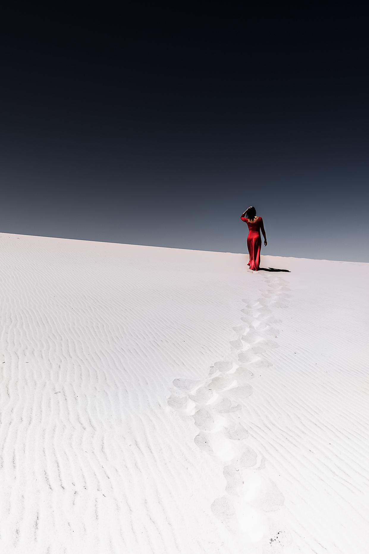 Lady in Red, Oregon Dunes
