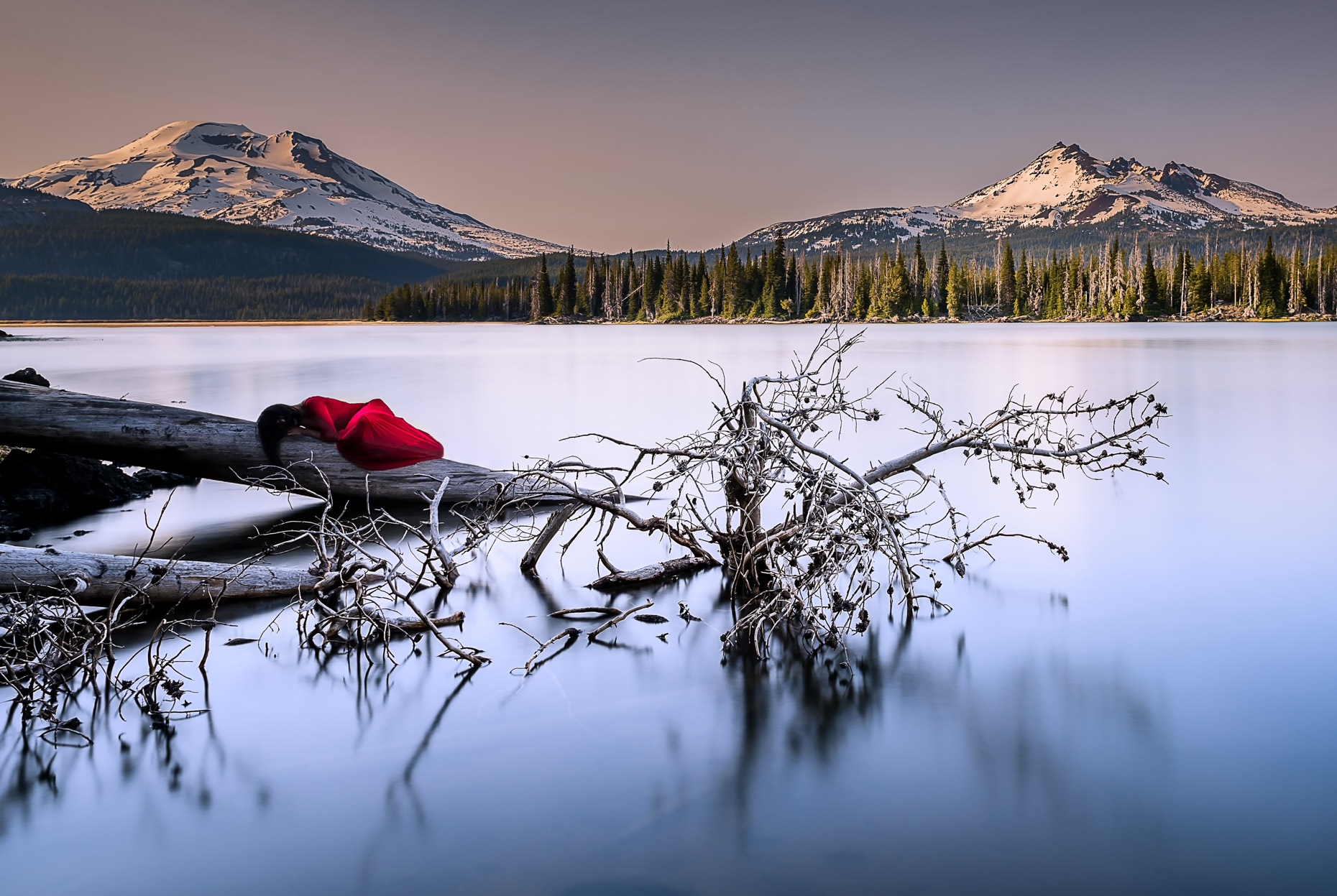 Lady in Red, Sparks Lake