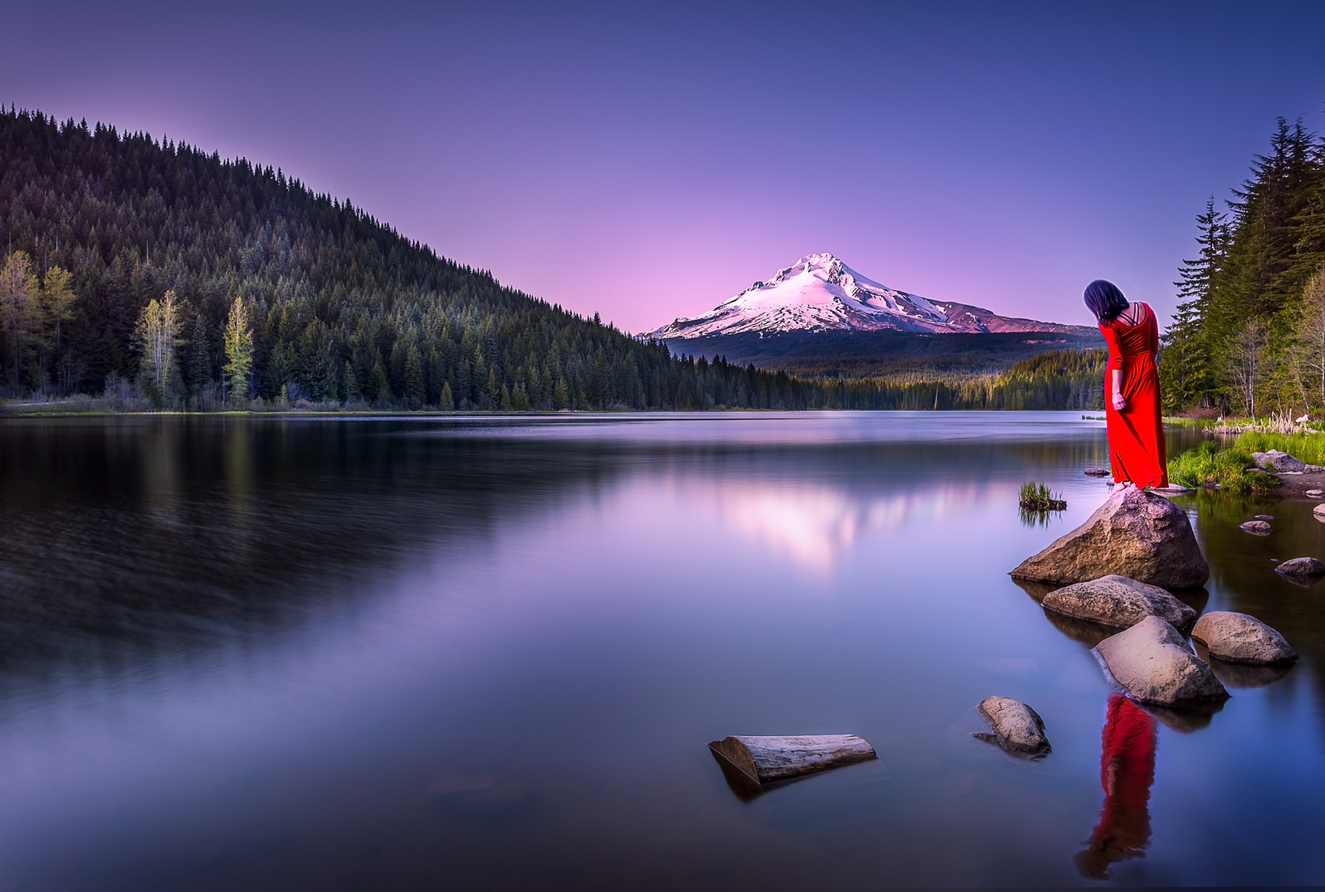 Lady in Red, Trillium Lake